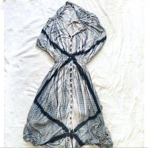 Lucky Brand Shibori Tie Dye Dress  sz XL